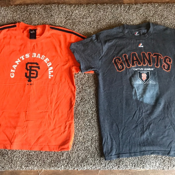 2 San Francisco Giants shirts youth large adult S